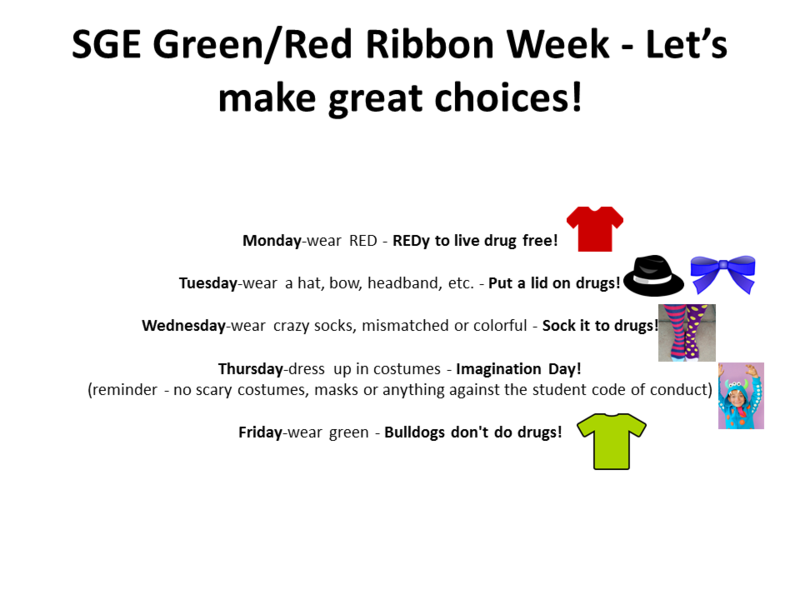 SGE Green/ Red Ribbon Week: Week of October 28 Thumbnail Image