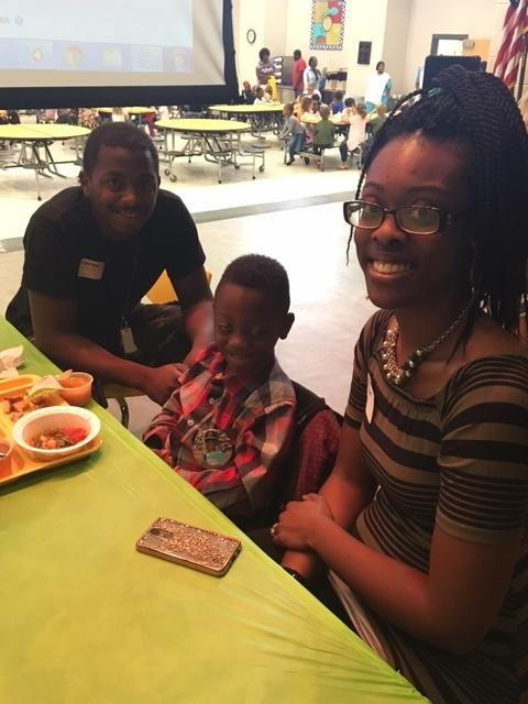 CCPS student with parents
