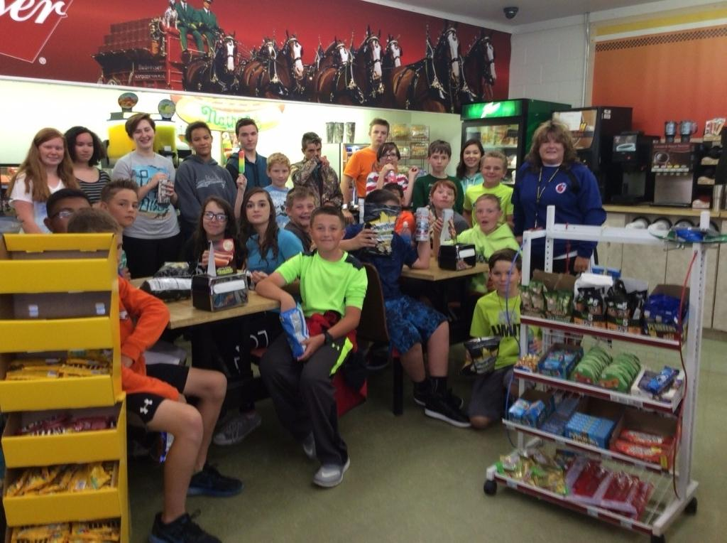 CES Middle School Health & Fitness class took a walking field trip to JR's Country store to read food labels.