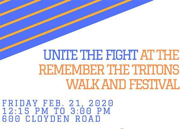 REMEMBER THE TRITONS WALK AND FESTIVAL | Fri, Feb 21 - 12:15 PM Thumbnail Image
