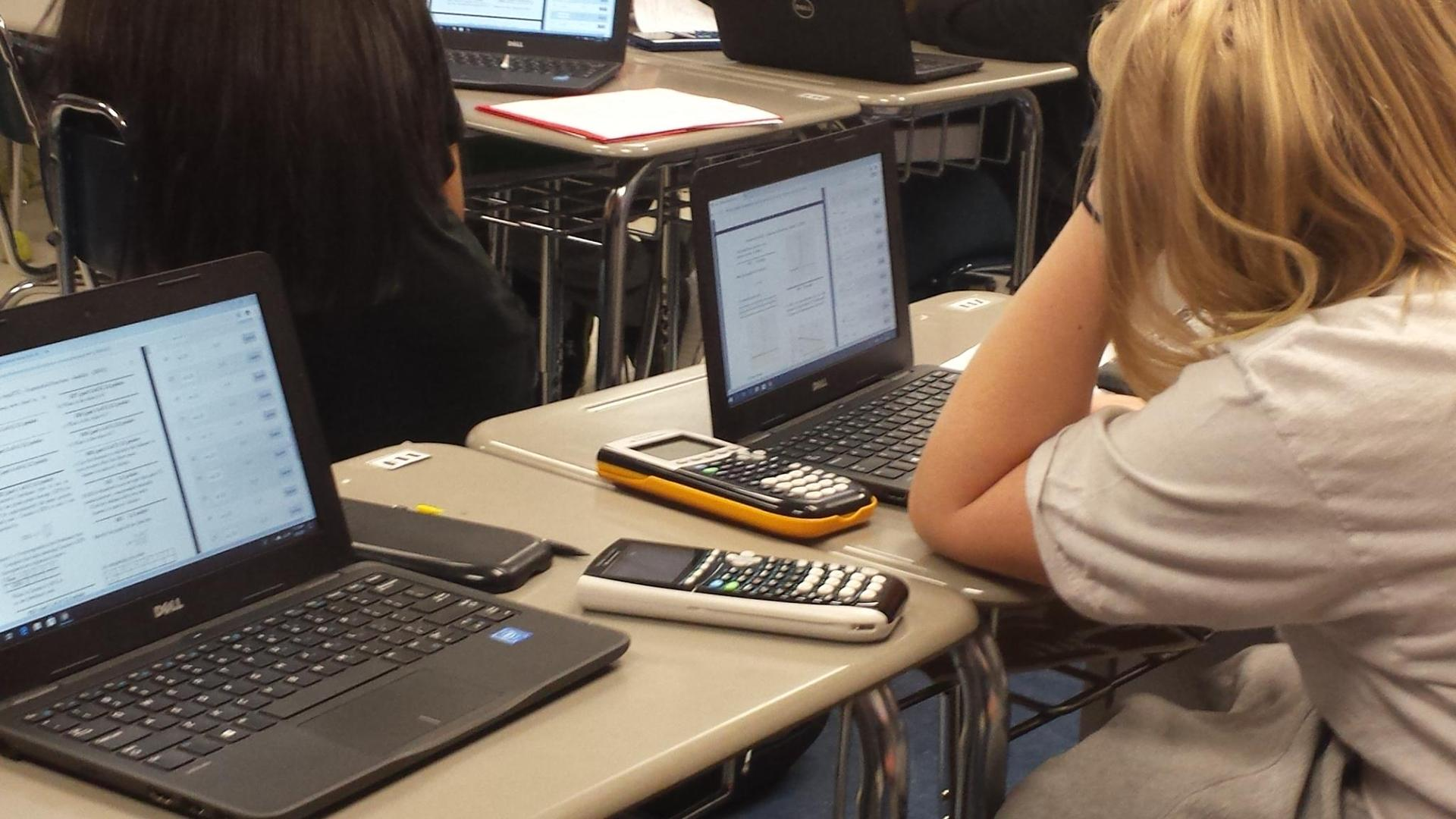 Mrs. Shanklin's students using Quest