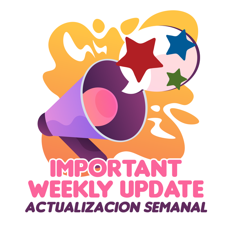 Weekly update graphic