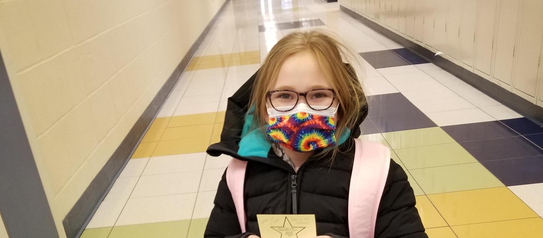 girl wearing mask post