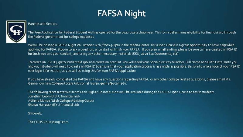 FAFSA Night Oct. 14 2021