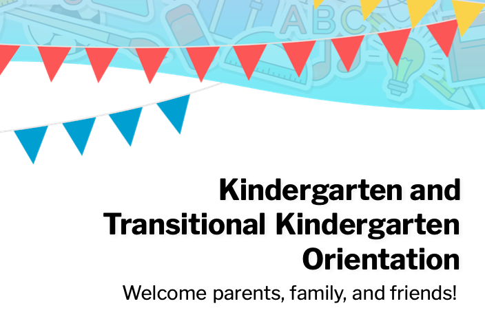 2021-2022 TK and Kindergarten  Information! Featured Photo