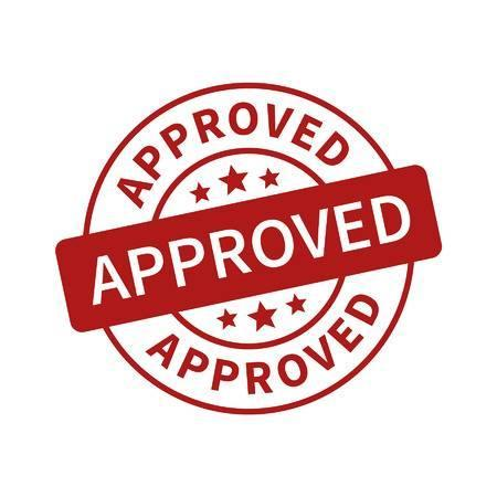Image that says 'Approved'