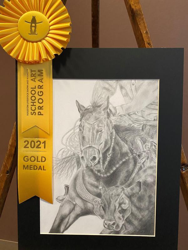 Deja Garza Houston Livestock Show Art