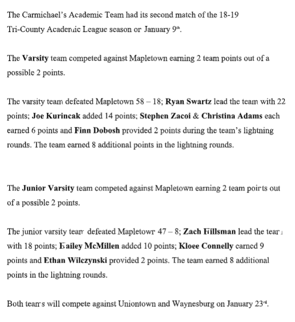 Academic League 2nd Match Stats Thumbnail Image