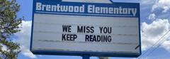 Reader board: We miss you, keep reading