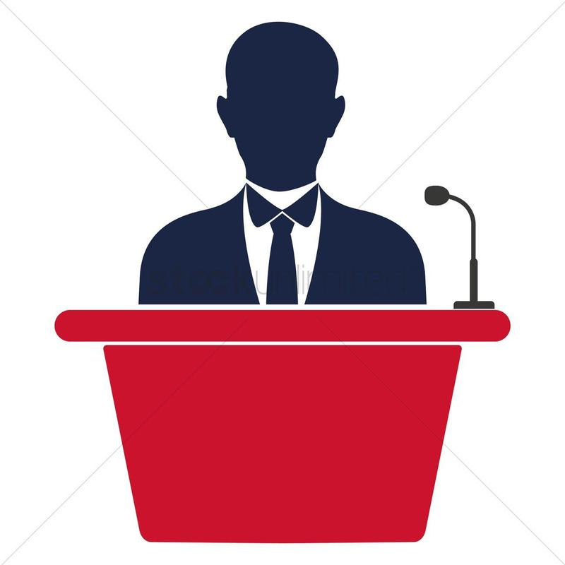 a man at a podium
