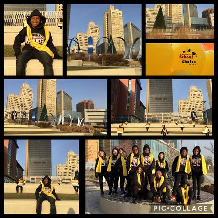 Picture of NSCW dancers downtown Toledo.