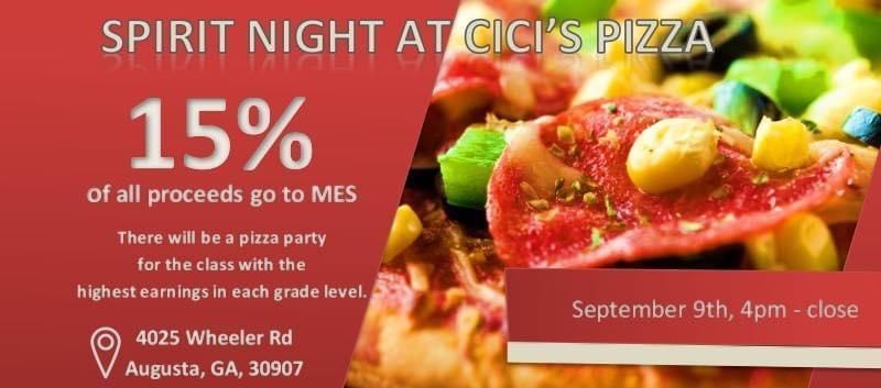 CiCi's Pizza Spirit Night