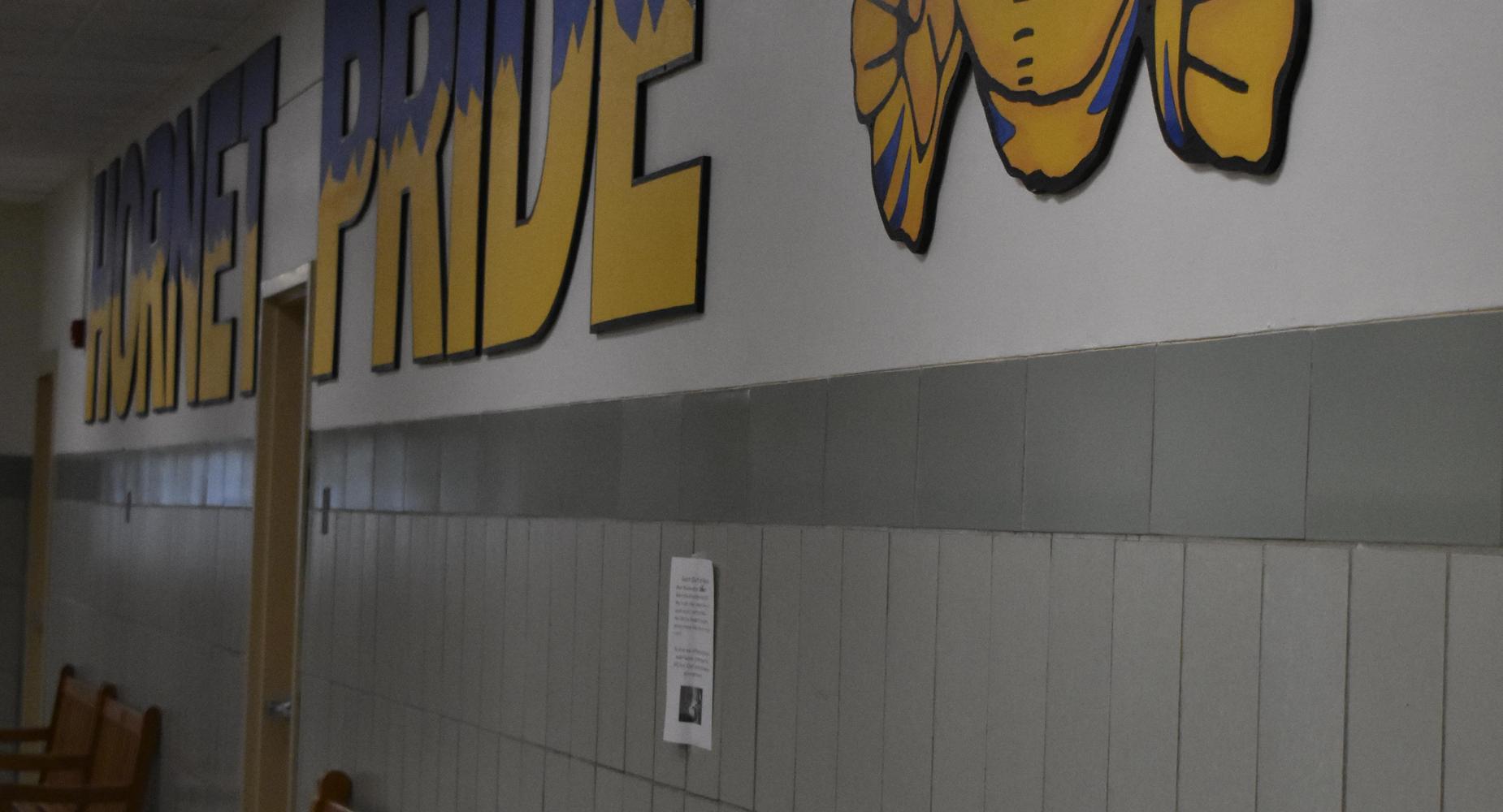 MHS Main Hallway Hornet Pride Sign