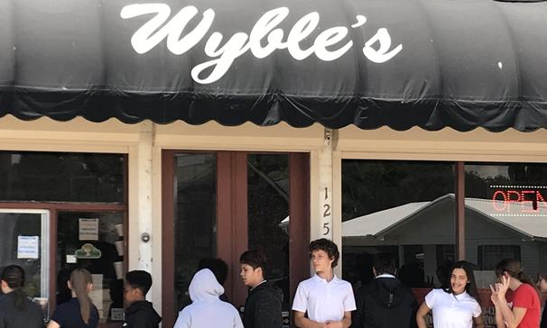 Thanks to Wyble's Snoballs for helping us with a fundraiser.