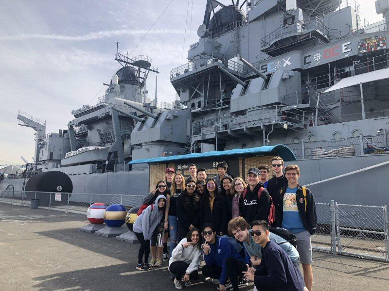 IB Class of 2019 at the USS Iowa in San Pedro, CA