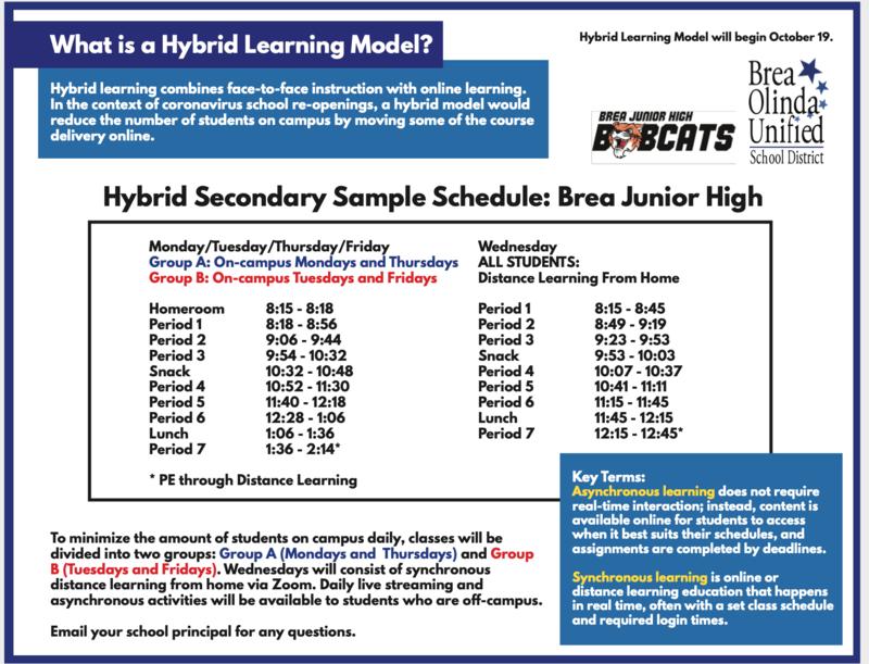 BJH Hybrid Schedule