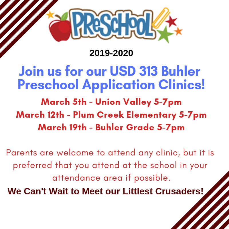 2019-2020 USD 313 Buhler Preschool Application Clinic Thumbnail Image