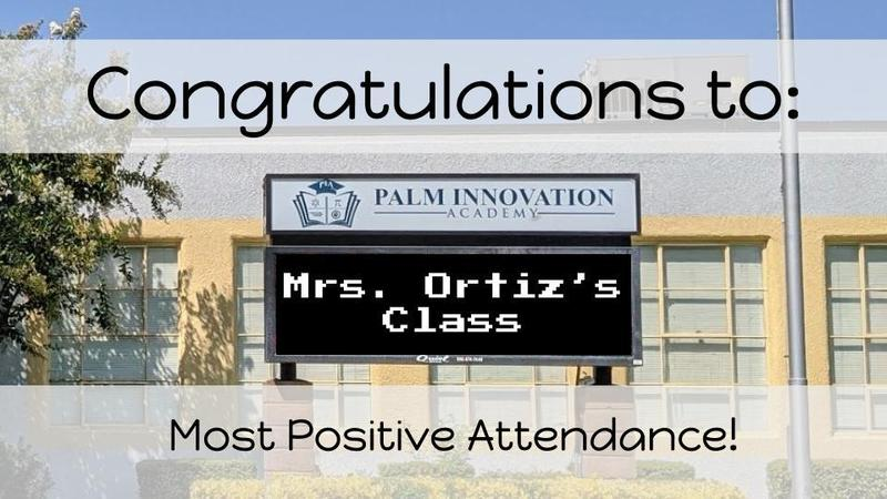 Congratulation to Mrs. Ortiz's Class!
