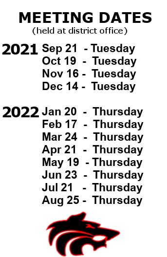 2021-22 School Board Meeting Dates