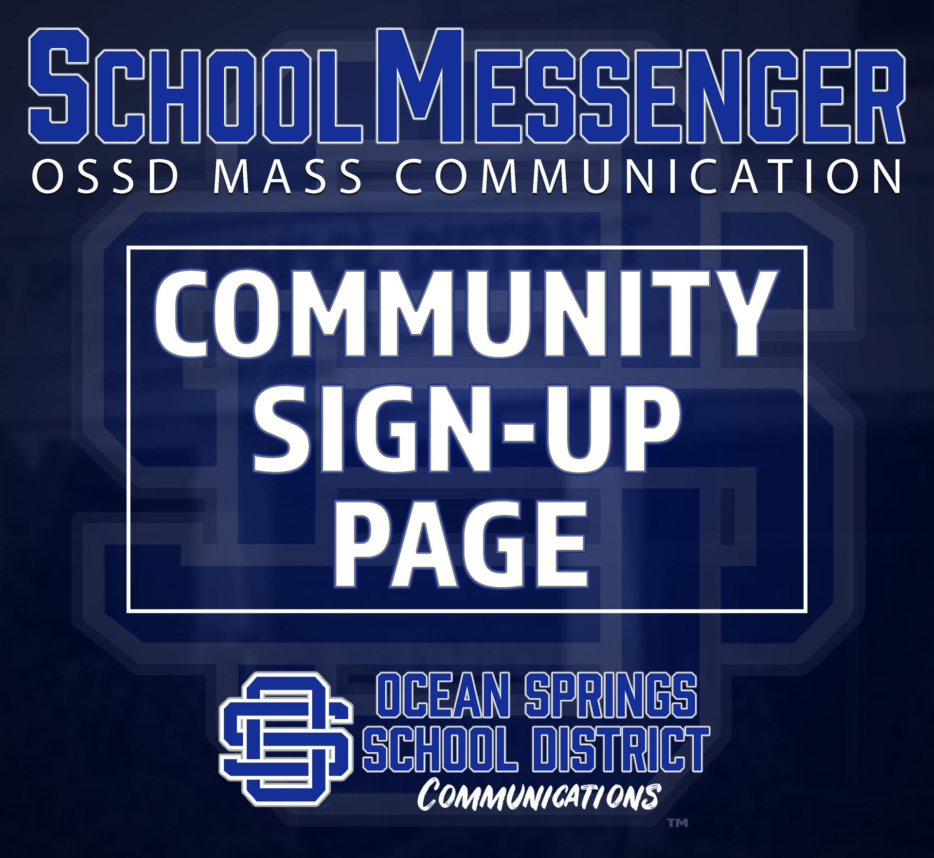 Community Sign-Up page