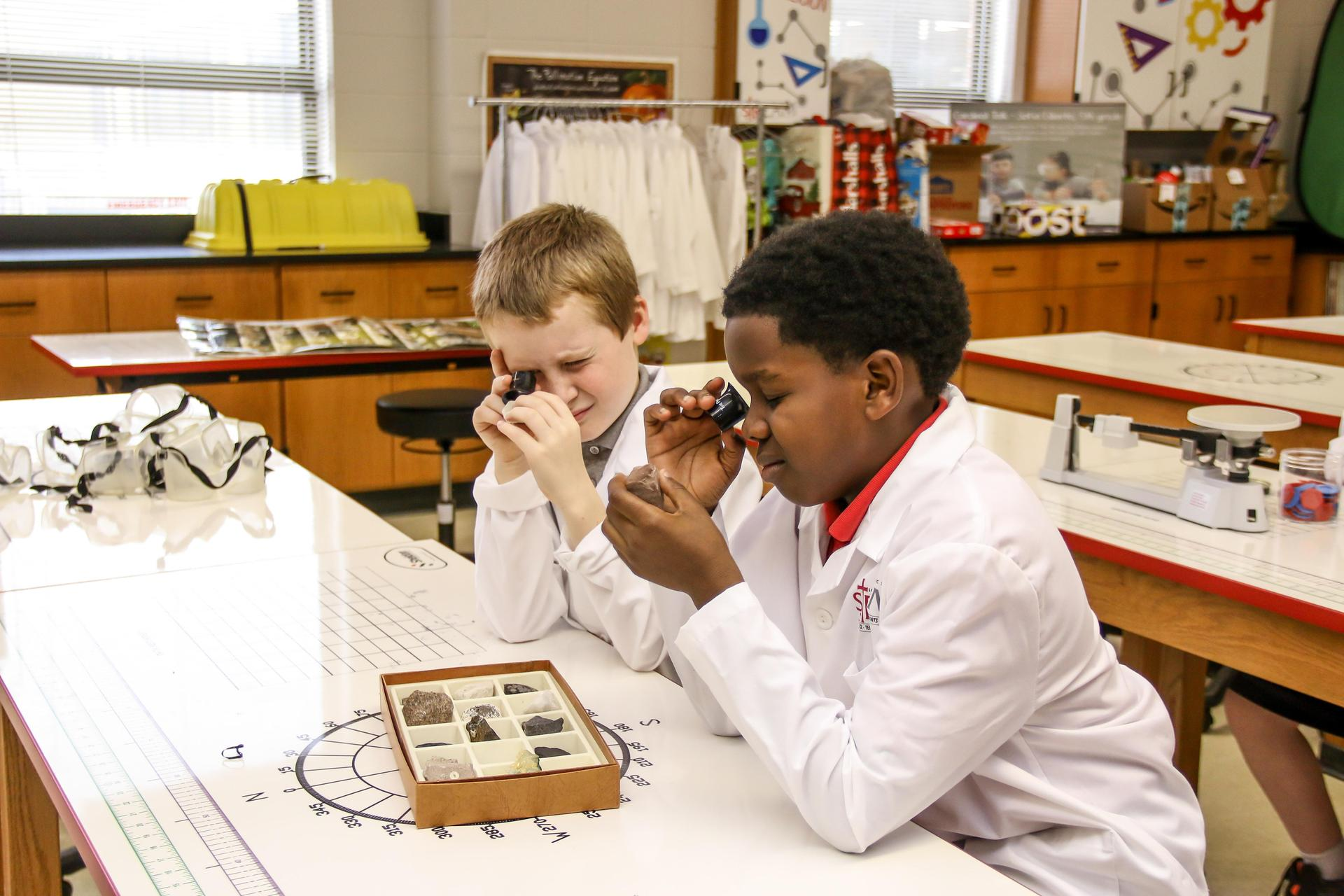 St Richard Students in Science Lab