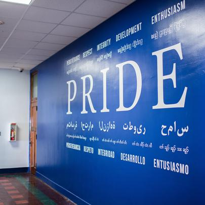Prodeo PRIDE wall at our St. Paul campus