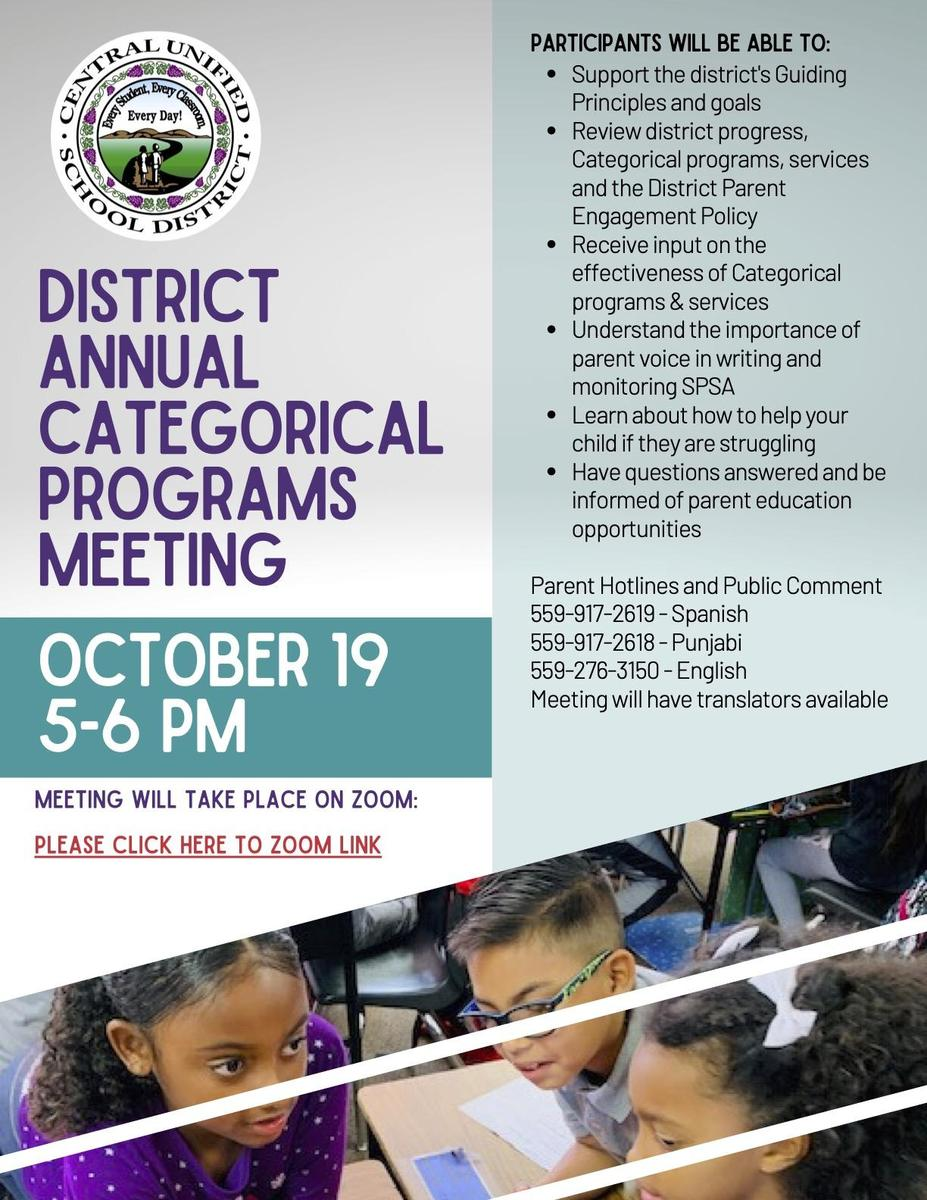 Annual Categorical Meeting