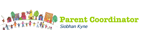 Graphic treatment of Parent Coordinator title and name
