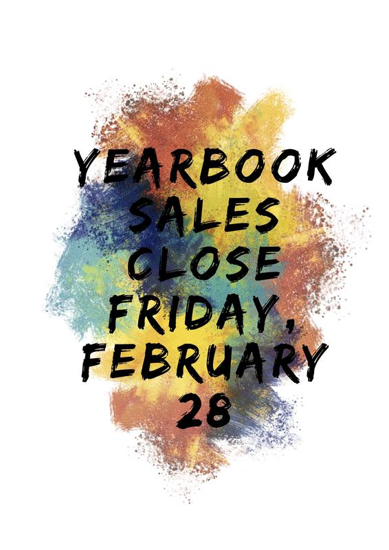 Yearbook Sales Close Friday, February 28 Featured Photo