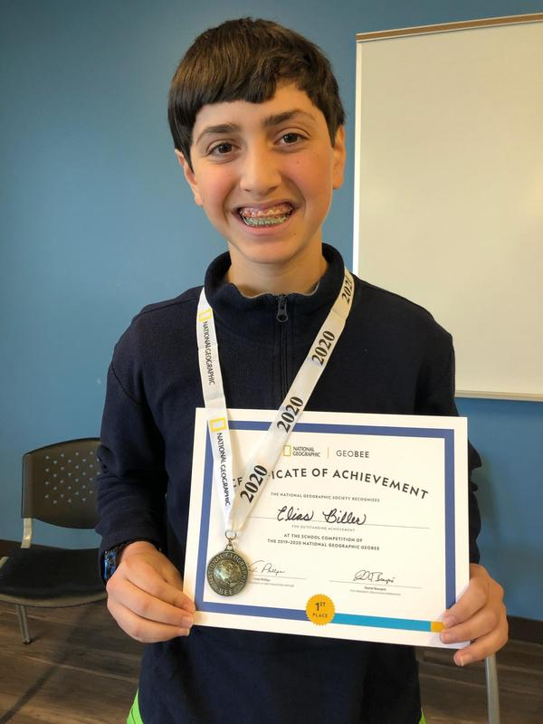 Elias Biller, 7th Grade Bradford Student, Semifinalists for the 2020 GeoBee State Competition! Featured Photo