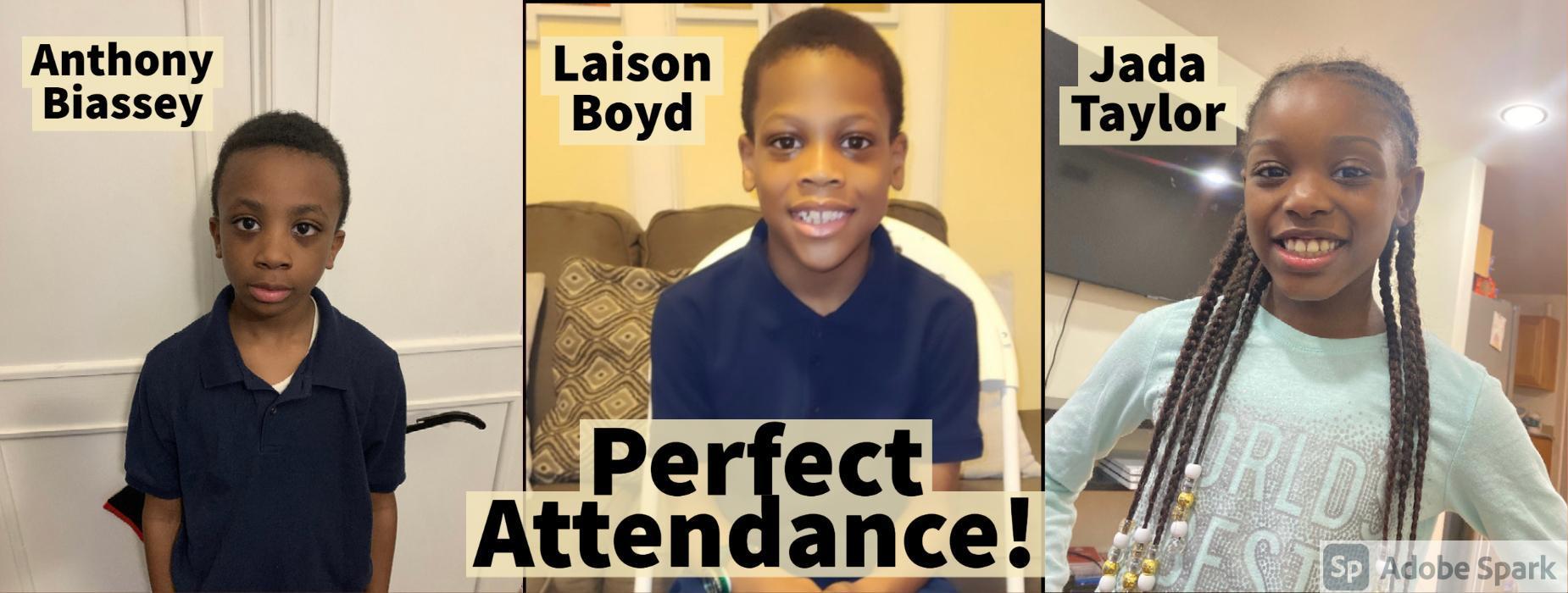 1st Marking Period Perfect Attendance