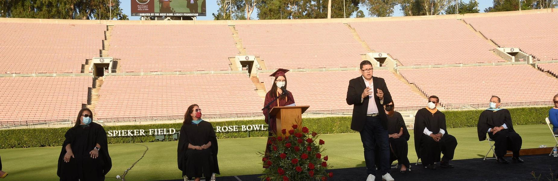 2021 Graduation Ceremony at the Rose Bowl