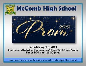 McComb High School Prom Announcement 2019