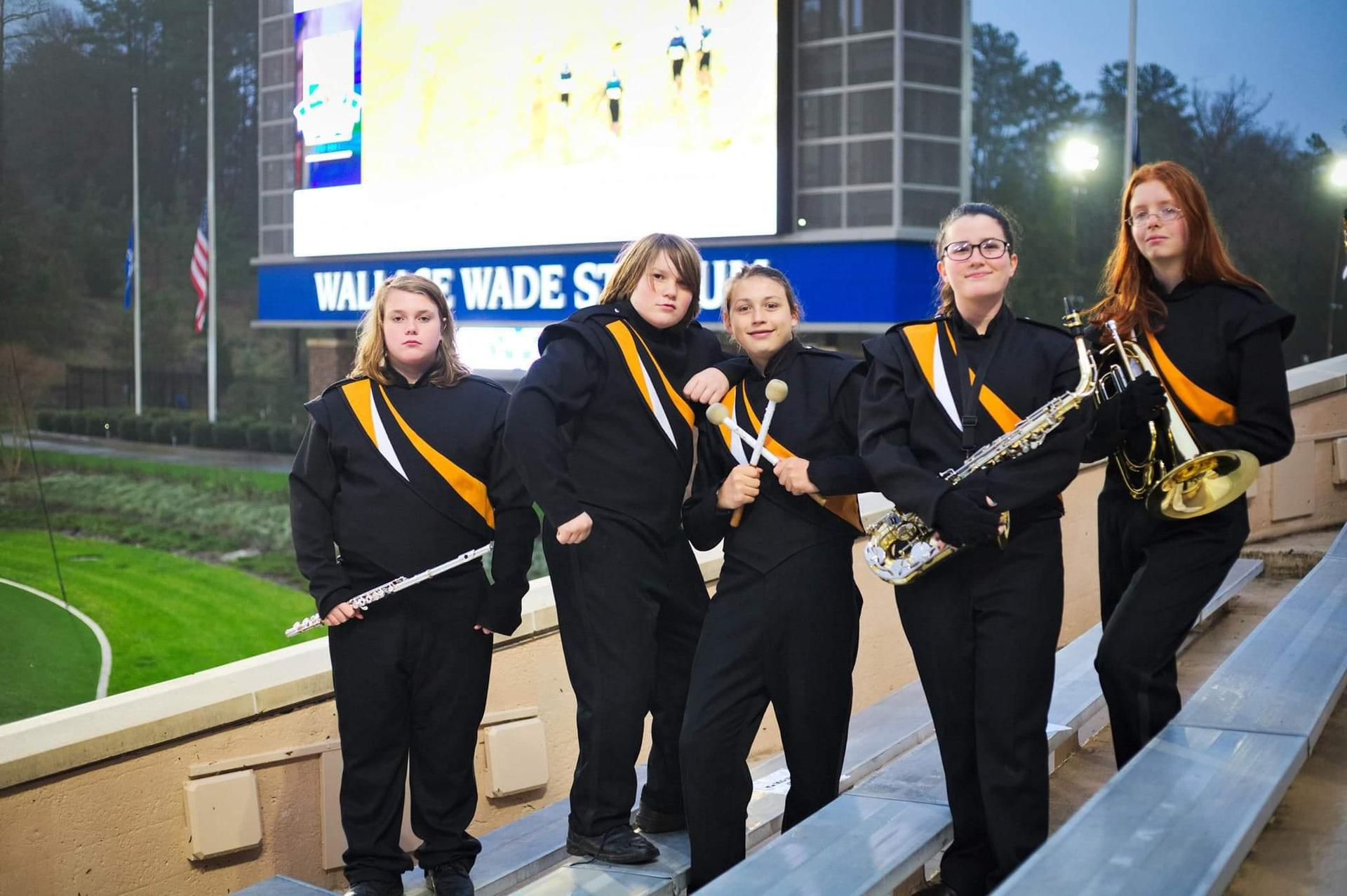 MMS Marching band members