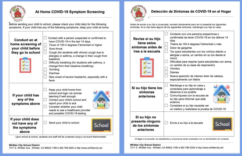 At Home COVID-19 Symptoms Screening