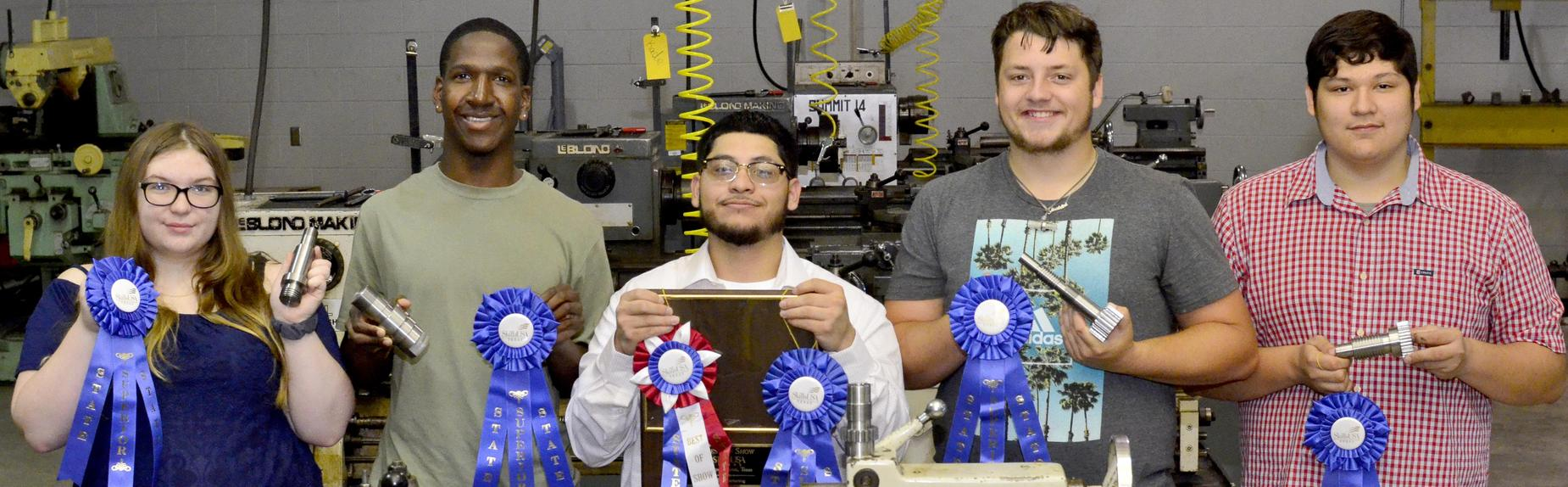 Career Center Precision Machine students win blue ribbons and BEST of SHOW at STATE Meet!