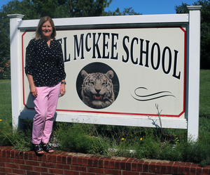 Dr. Brown at Daniel-McKee Alternative School