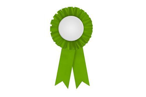 Image of a green award ribbon