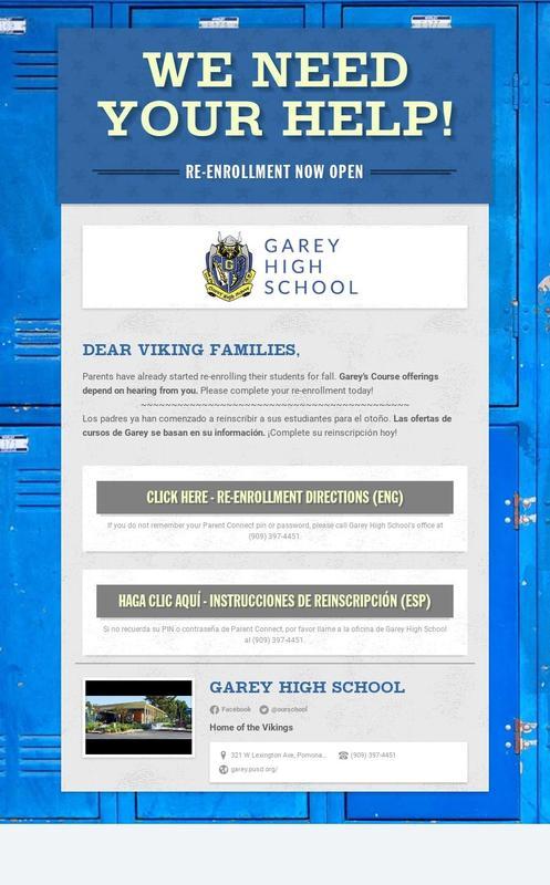 Re-Enrollment Flyer