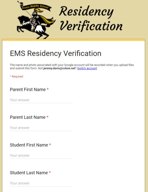 EMS Residency Verification photo