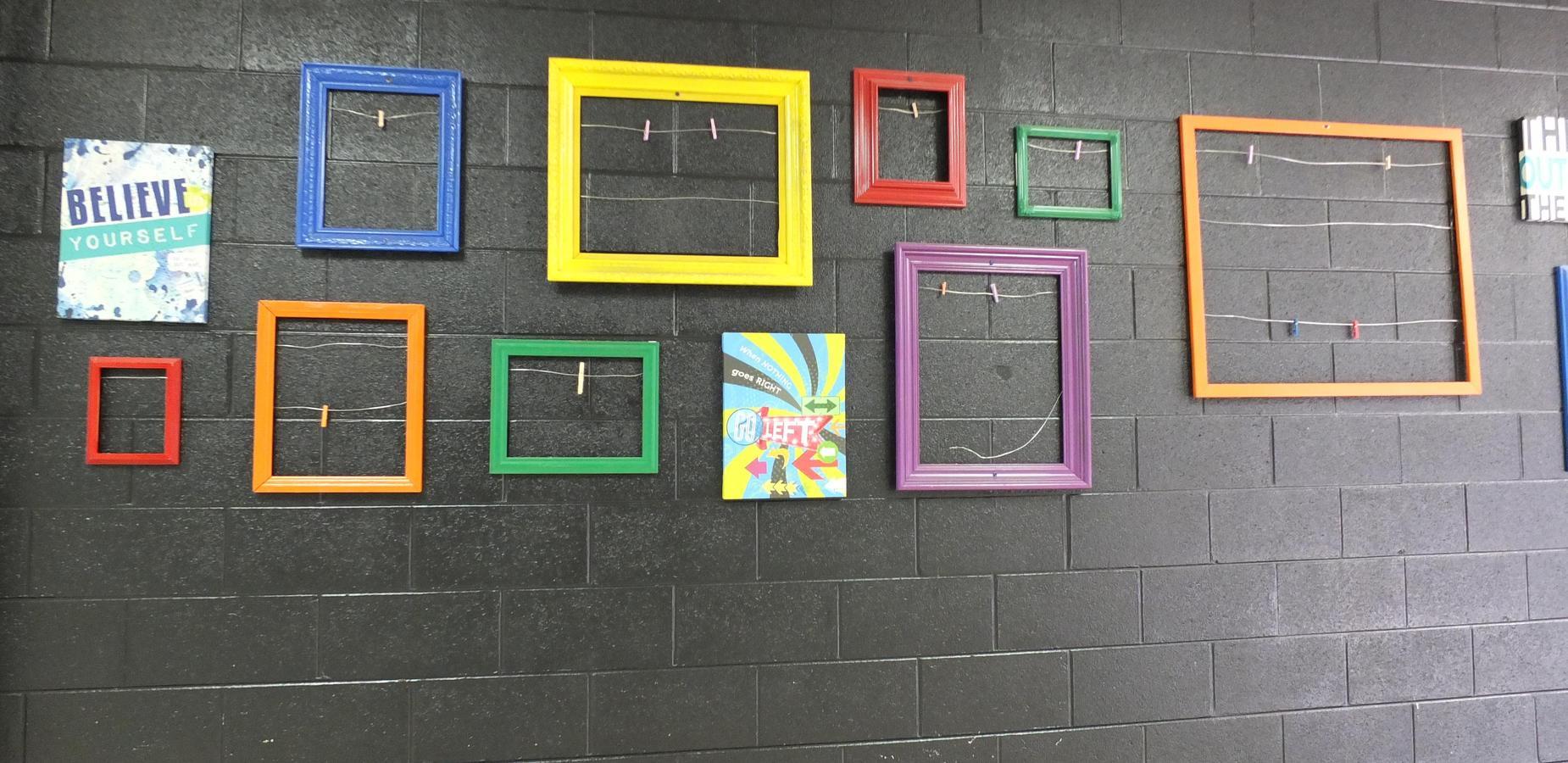 Student Work Display-Downstairs Hallway