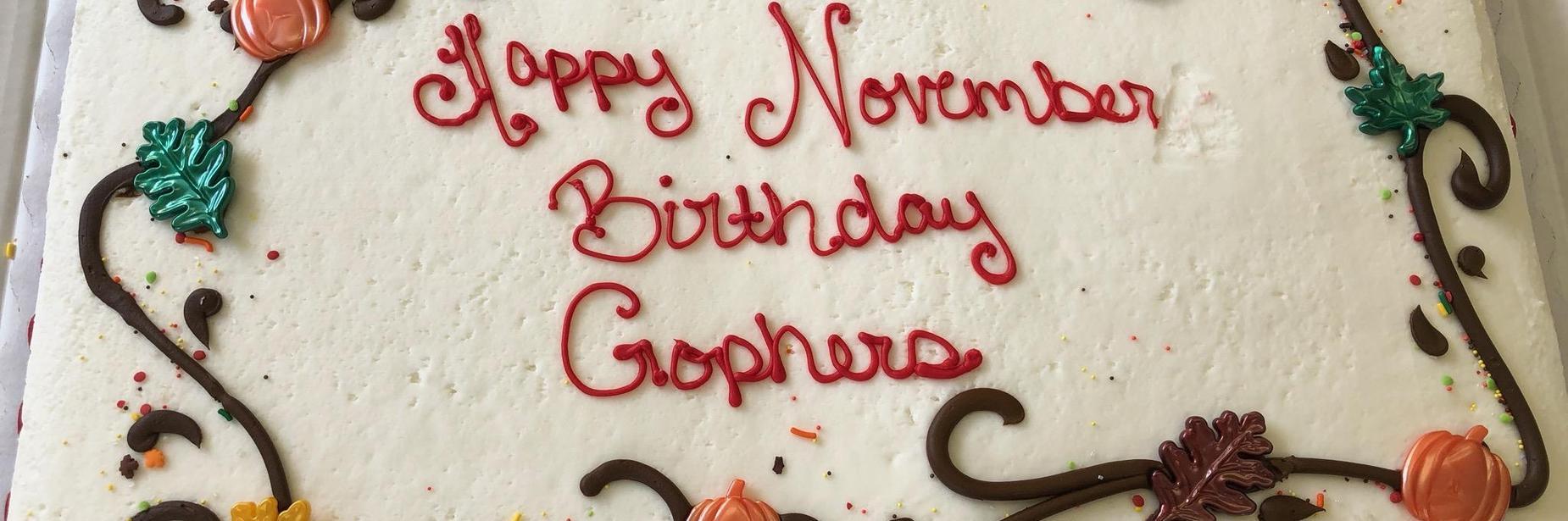 Nov. birthday cake