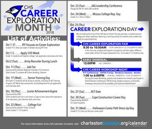 List of Activities for CHS Career Exploration Month (see article)