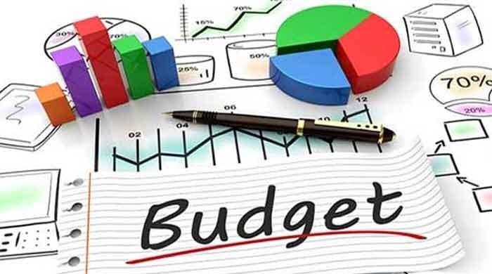 budget graphic with charts, graphs and pen