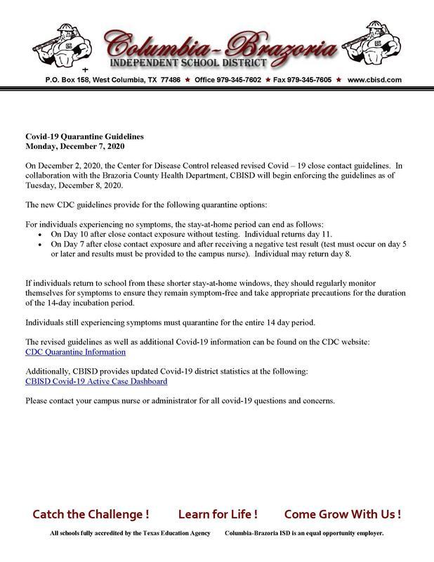 updated quarantine guidelines