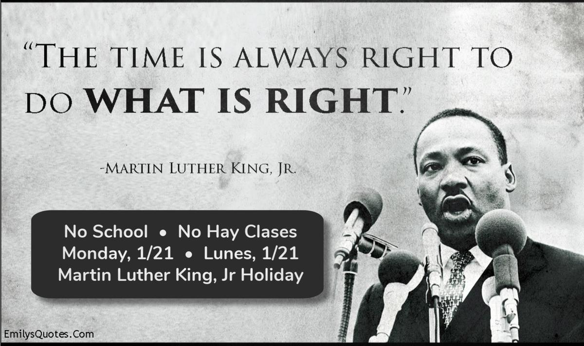 Image result for martin luther king jr holiday 2019 no school