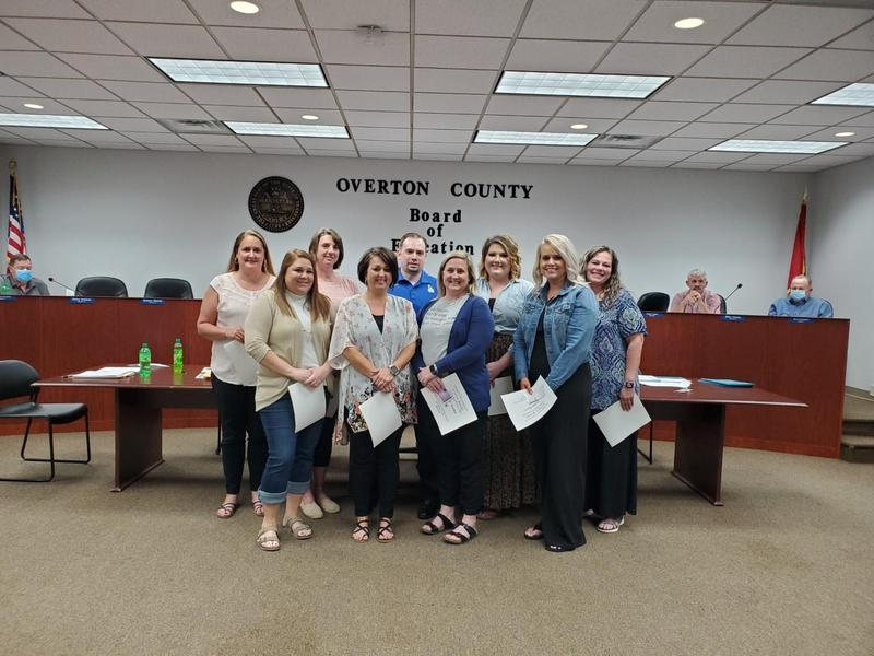Tenured Teachers Recognized