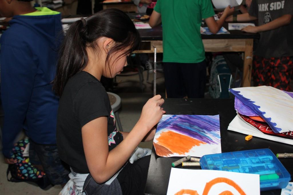 middle school painting