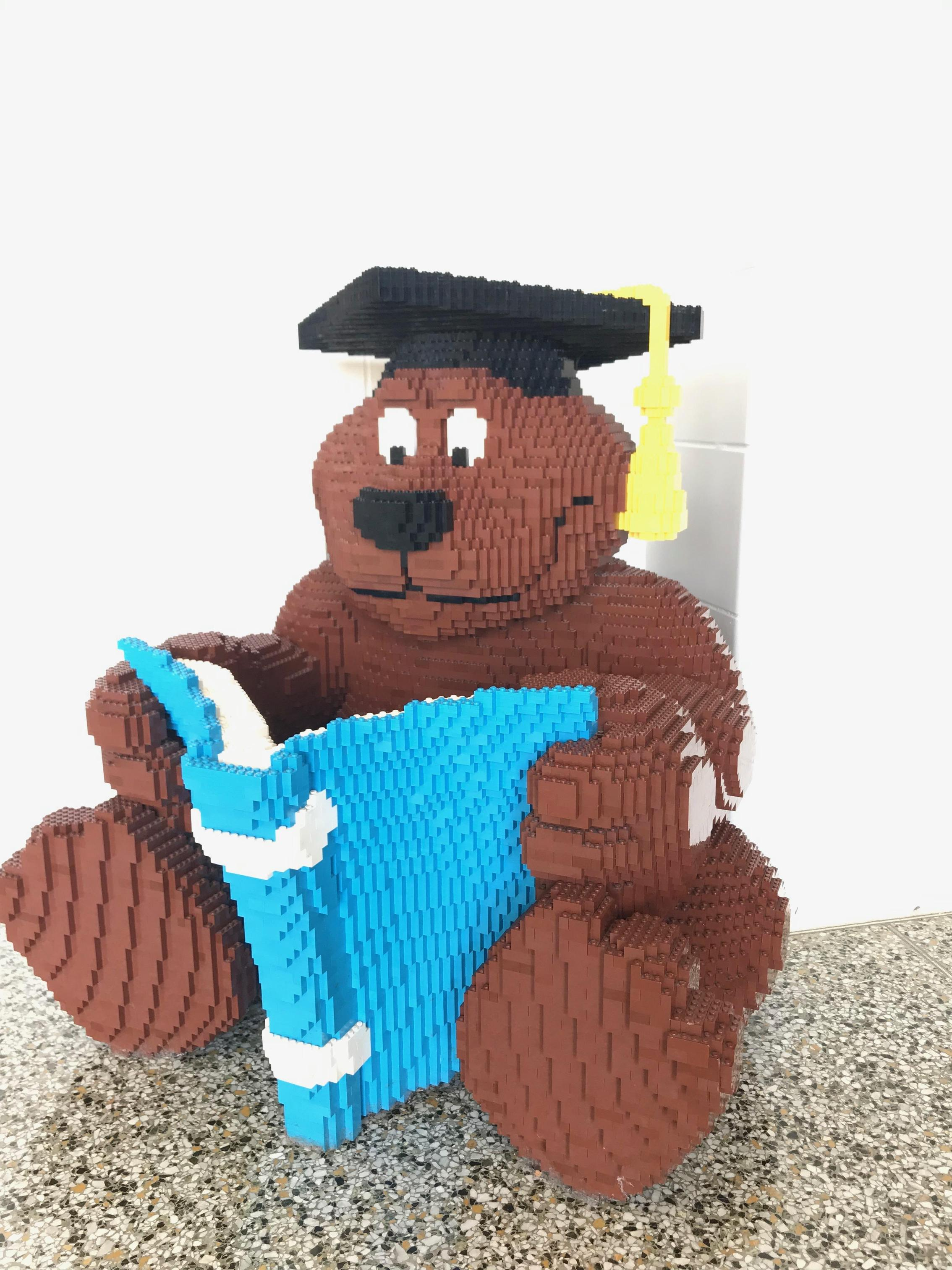 Bear made of LEGO