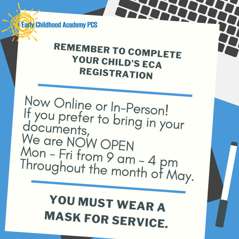 Remember to Complete Your Child's ECA Registration Featured Photo
